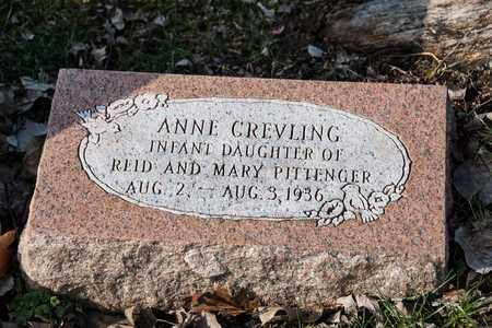 PITTENGER, ANNE CREVILING - Richland County, Ohio   ANNE CREVILING PITTENGER - Ohio Gravestone Photos