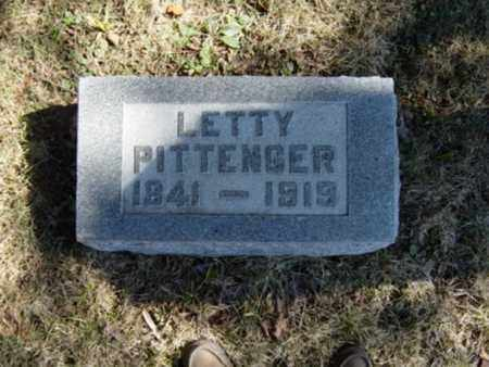 PITTENGER, LETTY - Richland County, Ohio   LETTY PITTENGER - Ohio Gravestone Photos