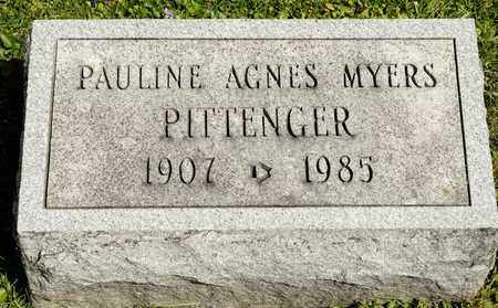 MYERS PITTENGER, PAULINE AGNES - Richland County, Ohio   PAULINE AGNES MYERS PITTENGER - Ohio Gravestone Photos