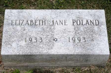 POLAND, ELIZABETH JANE - Richland County, Ohio   ELIZABETH JANE POLAND - Ohio Gravestone Photos