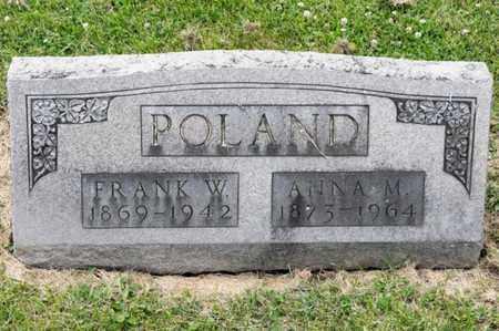 POLAND, ANNA M - Richland County, Ohio   ANNA M POLAND - Ohio Gravestone Photos