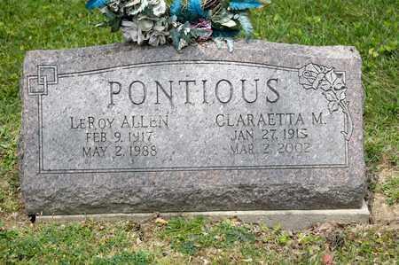 PONTIOUS, LEROY ALLEN - Richland County, Ohio | LEROY ALLEN PONTIOUS - Ohio Gravestone Photos