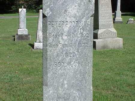 POORMAN, PETER - Richland County, Ohio | PETER POORMAN - Ohio Gravestone Photos