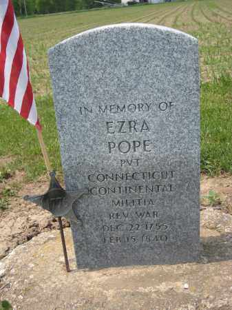POPE, EZRA - Richland County, Ohio | EZRA POPE - Ohio Gravestone Photos