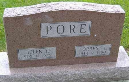 PORE, FORREST L. - Richland County, Ohio | FORREST L. PORE - Ohio Gravestone Photos