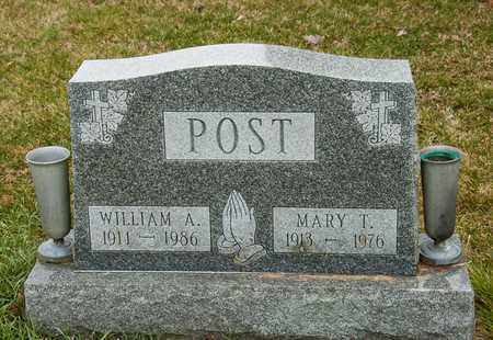 POST, WILLIAM A - Richland County, Ohio | WILLIAM A POST - Ohio Gravestone Photos