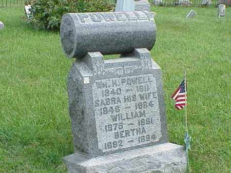 POWELL, SABRA - Richland County, Ohio | SABRA POWELL - Ohio Gravestone Photos