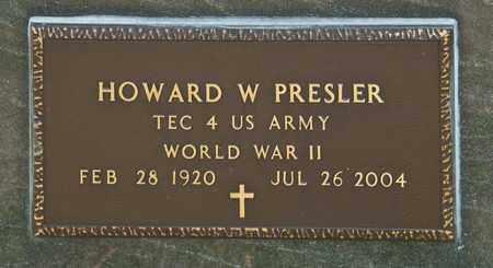 PRESLER, HOWARD W - Richland County, Ohio | HOWARD W PRESLER - Ohio Gravestone Photos