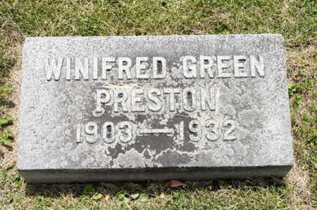 PRESTON, WINIFRED - Richland County, Ohio | WINIFRED PRESTON - Ohio Gravestone Photos