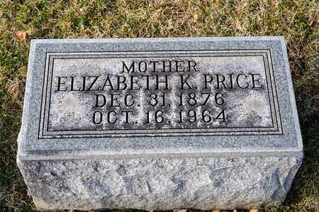 PRICE, ELIZABETH K - Richland County, Ohio   ELIZABETH K PRICE - Ohio Gravestone Photos