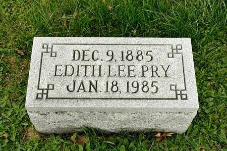 BROWN PRY, EDITH LEE - Richland County, Ohio | EDITH LEE BROWN PRY - Ohio Gravestone Photos