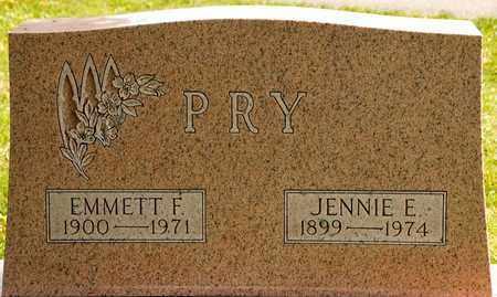 PRY, JENNIE E - Richland County, Ohio   JENNIE E PRY - Ohio Gravestone Photos
