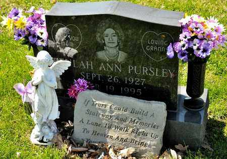 PURSLEY, BEULAH ANN - Richland County, Ohio   BEULAH ANN PURSLEY - Ohio Gravestone Photos