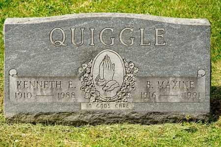 QUIGGLE, KENNETH E - Richland County, Ohio   KENNETH E QUIGGLE - Ohio Gravestone Photos