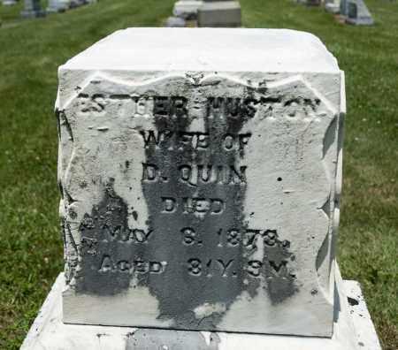 HUSTON QUIN, ESTHER - Richland County, Ohio | ESTHER HUSTON QUIN - Ohio Gravestone Photos