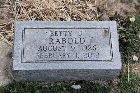 RABOLD, BETTY J - Richland County, Ohio   BETTY J RABOLD - Ohio Gravestone Photos