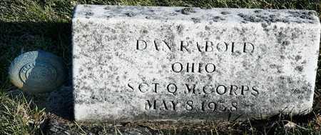 RABOLD, DAN - Richland County, Ohio | DAN RABOLD - Ohio Gravestone Photos