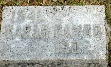 RAMBO, SARAH - Richland County, Ohio   SARAH RAMBO - Ohio Gravestone Photos