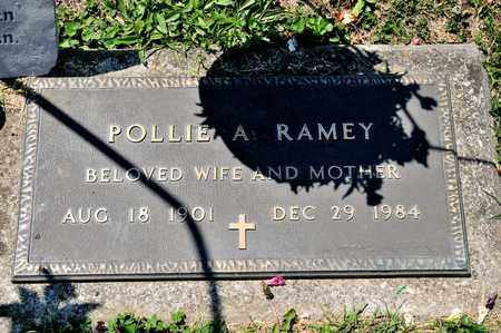 RAMEY, POLLIE A - Richland County, Ohio | POLLIE A RAMEY - Ohio Gravestone Photos