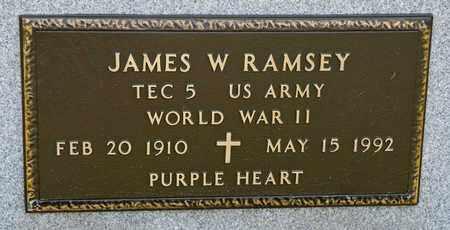 RAMSEY, JAMES W - Richland County, Ohio | JAMES W RAMSEY - Ohio Gravestone Photos