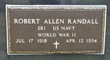 RANDALL, ROBERT ALLEN - Richland County, Ohio   ROBERT ALLEN RANDALL - Ohio Gravestone Photos