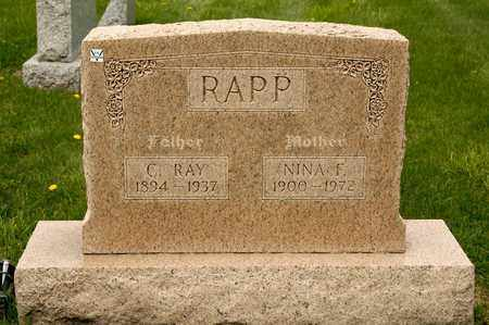 RAPP, NINA F - Richland County, Ohio | NINA F RAPP - Ohio Gravestone Photos