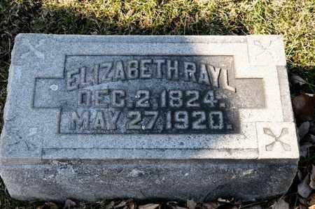 RAYL, ELIZABETH - Richland County, Ohio | ELIZABETH RAYL - Ohio Gravestone Photos
