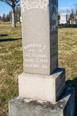 RAYMOND, HANNAH E - Richland County, Ohio   HANNAH E RAYMOND - Ohio Gravestone Photos