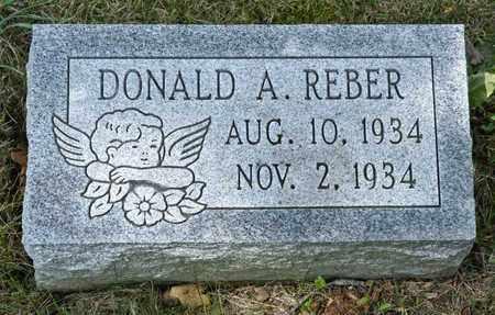 REBER, DONALD A - Richland County, Ohio   DONALD A REBER - Ohio Gravestone Photos