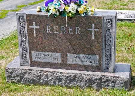 REBER, LEANARD R - Richland County, Ohio | LEANARD R REBER - Ohio Gravestone Photos