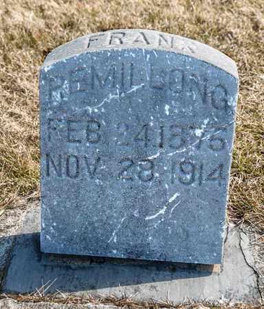 REMILLONG, FRANK - Richland County, Ohio   FRANK REMILLONG - Ohio Gravestone Photos