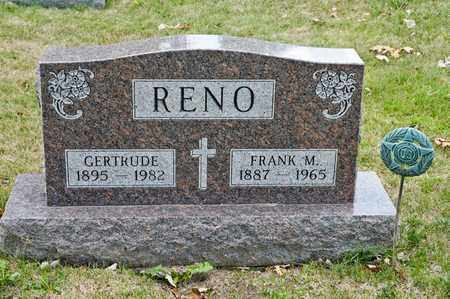 RENO, GERTRUDE - Richland County, Ohio | GERTRUDE RENO - Ohio Gravestone Photos