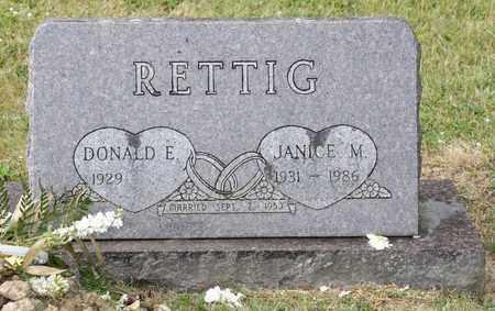 RETTIG, JANICE M - Richland County, Ohio   JANICE M RETTIG - Ohio Gravestone Photos