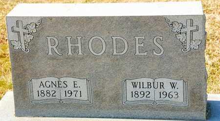 RHODES, WILBUR W - Richland County, Ohio   WILBUR W RHODES - Ohio Gravestone Photos