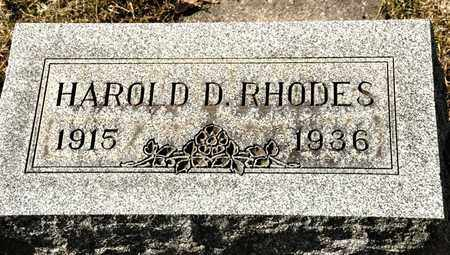 RHODES, HAROLD D - Richland County, Ohio | HAROLD D RHODES - Ohio Gravestone Photos