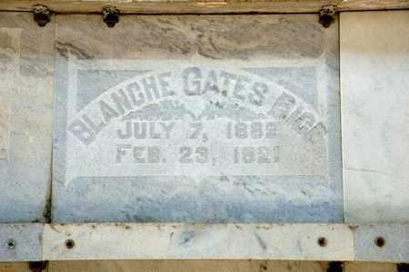 GATES RICE, BLANCHE - Richland County, Ohio | BLANCHE GATES RICE - Ohio Gravestone Photos