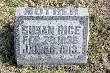 RICE, SUSAN - Richland County, Ohio | SUSAN RICE - Ohio Gravestone Photos