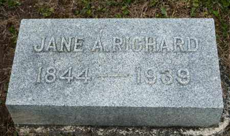 RICHARD, JANE A - Richland County, Ohio | JANE A RICHARD - Ohio Gravestone Photos