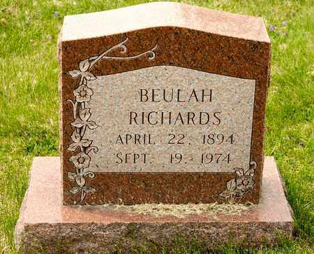RICHARDS, BEULAH - Richland County, Ohio | BEULAH RICHARDS - Ohio Gravestone Photos