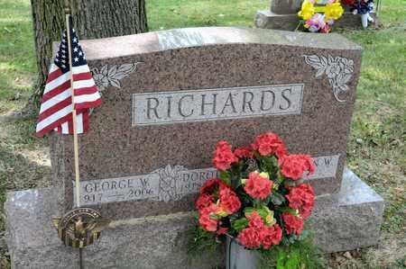 RICHARDS, GEORGE W - Richland County, Ohio | GEORGE W RICHARDS - Ohio Gravestone Photos