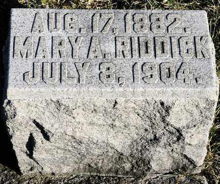RIDDICK, MARY A - Richland County, Ohio | MARY A RIDDICK - Ohio Gravestone Photos