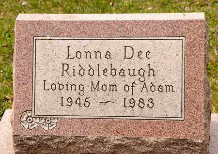 RIDDLEBAUGH, LONNA DEE - Richland County, Ohio | LONNA DEE RIDDLEBAUGH - Ohio Gravestone Photos