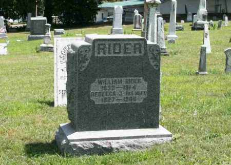 RIDER, REBECCA J - Richland County, Ohio | REBECCA J RIDER - Ohio Gravestone Photos