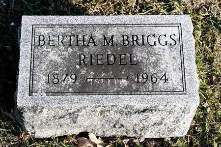 BRIGGS RIEDEL, BERTHA M - Richland County, Ohio | BERTHA M BRIGGS RIEDEL - Ohio Gravestone Photos