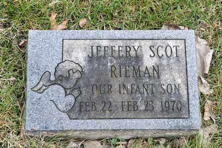 RIEMAN, JEFFERY SCOT - Richland County, Ohio | JEFFERY SCOT RIEMAN - Ohio Gravestone Photos