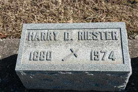 RIESTER, HARRY D - Richland County, Ohio | HARRY D RIESTER - Ohio Gravestone Photos