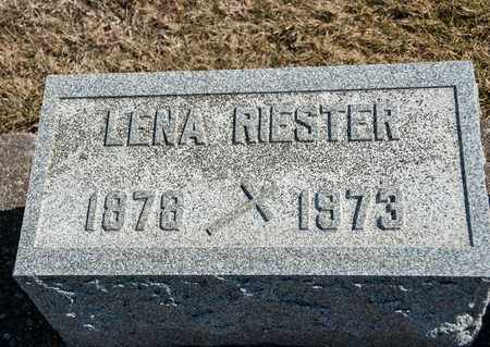 RIESTER, LENA - Richland County, Ohio | LENA RIESTER - Ohio Gravestone Photos