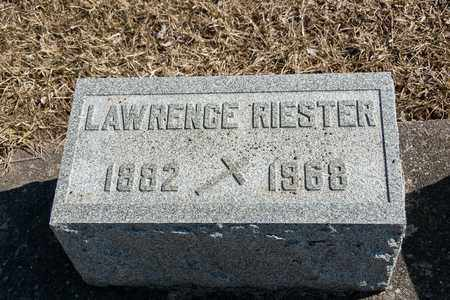 RIESTER, LAWRENCE - Richland County, Ohio | LAWRENCE RIESTER - Ohio Gravestone Photos
