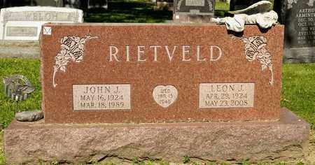 RIETVELD, LEON J - Richland County, Ohio   LEON J RIETVELD - Ohio Gravestone Photos