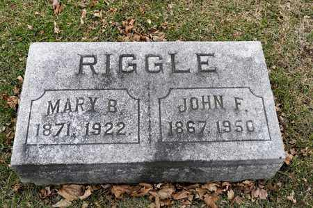 RIGGLE, JOHN F - Richland County, Ohio | JOHN F RIGGLE - Ohio Gravestone Photos